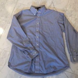 Tommy Hilfiger blue pinstriped collared shirt. EUC